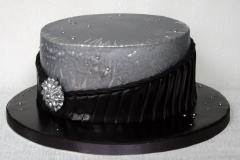 Black and Silver - 25th anniversary Cake