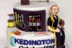 Kedington 25 Years Anniversary Birthday Cake