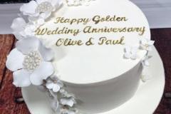 Olive & Paul - Golden Wedding Anniversary Cake