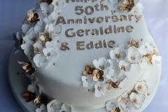 Geraldine and Eddie - Golden Anniversary Cake