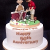 Kit and Charlie - 50th wedding anniversary cake