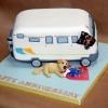 Camping Van Anniversary Cake