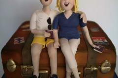 Mary & Ken - Travel / Suitcase Birthday Cake