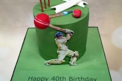 Aaron - Cricketing Birthday Cake