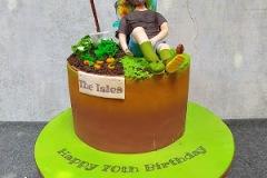 Cathy - Sleeping Gardener Birthday Cake