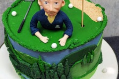 Claire - 70th Birthday Golfing Cake