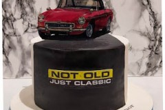 not-old-a-classic-car-red-mg-plane-DAL-Dublin-cake-maker-swords-malahide-kinsealy-airport-4