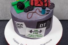 Diarmuid - Personal Trainer 21st Birthday Cake