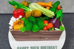 Mark 'Hates Vegetables' - Veg Box Birthday Cake