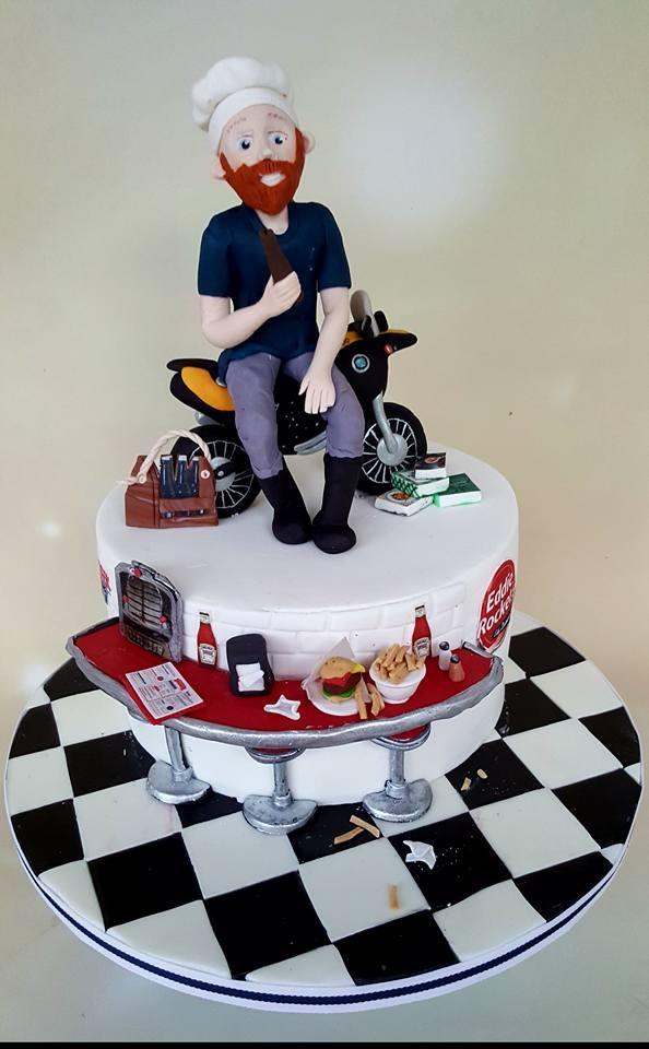 Mark - 40th Birthday Diner Cake