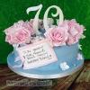 Patricia - 70th Birthday Roses Cake