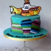 Magali - Beatles Yellow Submarine Birthday Cake