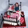 Catherine - 30th birthday cake / Bed Cake