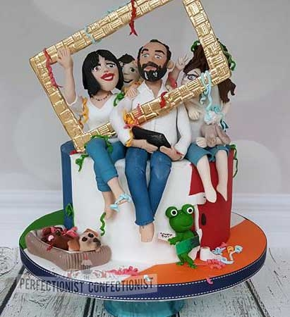 Philippe - 50th Birthday cake / Family Photo Cake