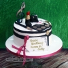 Karen & Carly - Chanel inspired birthday cake
