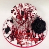 Esti - Blood Spatter Cake  Birthday Cake