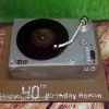 Ronan - Record Player Birthday Cake