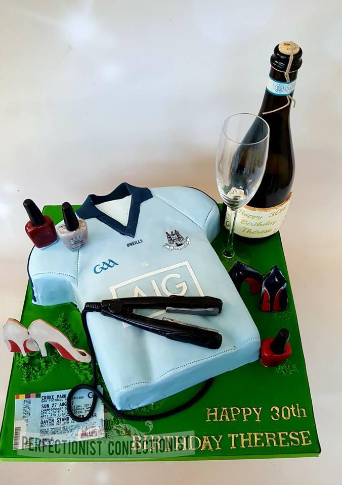 Therese - Dublin GAA Jersey 30th Birthday Cake