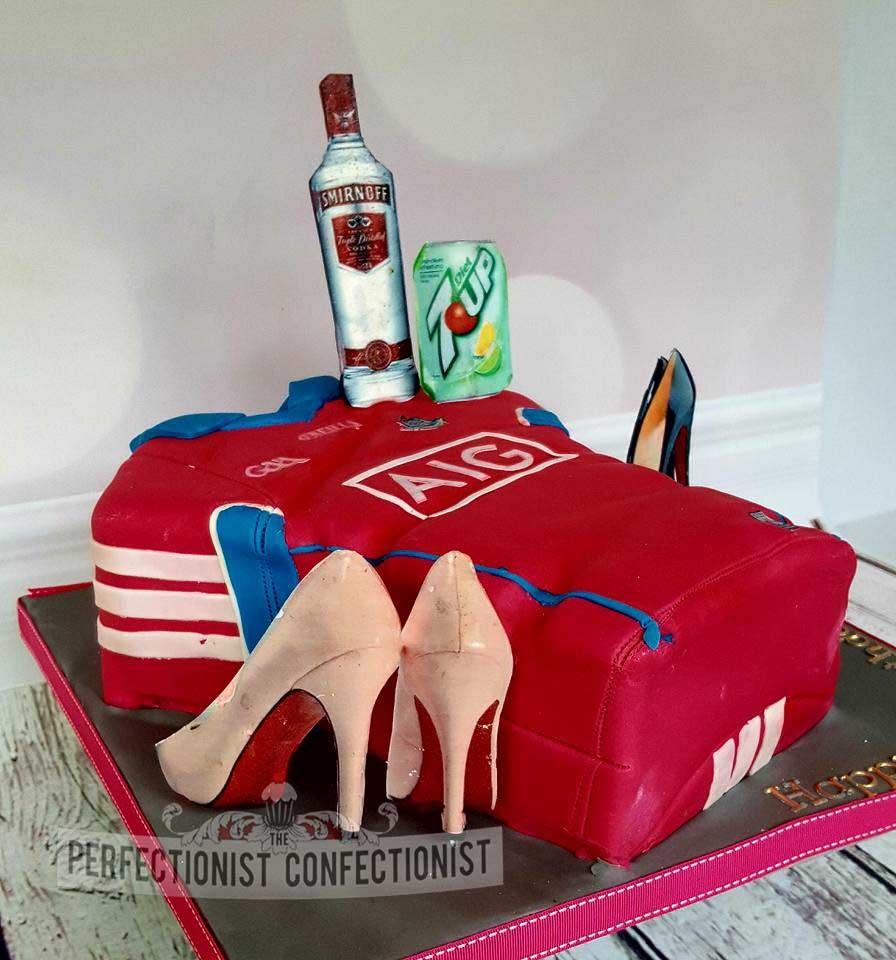 Natalie - Pink Ladies Dublin GAA Jersey 40th Birthday Cake