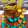 Laura - Chocolate and Gold 21st Birthday Cake
