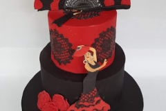 Sabrina - Flamenco Dancer Birthday Cake