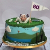 John - 80th Birthday Golfing Cake