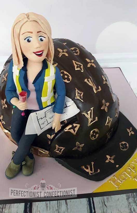 Julie - Designer Hard Hat Birthday Cake
