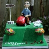 Leon - Ride on Lawnmower Birthday cake
