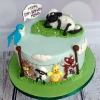 Magda and Shaun the Sheep Birthday Cake