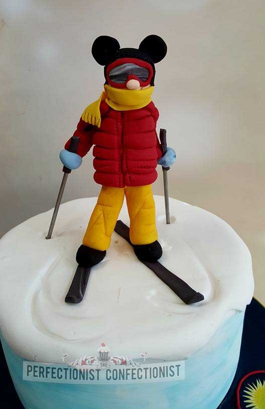 Steve - 60th Birthday Cake for a skiing Mickey Mouse fan