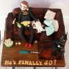 40th Sofa Birthday Cake