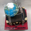 Ronan - Globetrotting Birthday Cake