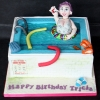 Tricia - Swimming Pool Birthday Cake
