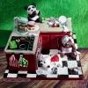 Stephanie - Bears in kitchen Birthday Cake