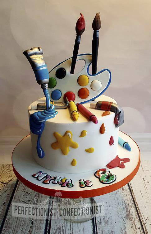 Fondant St Birthday Cakes