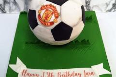 Lara - Manchester Utd. Birthday Cake