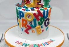Joey - Alphabet birthday cake