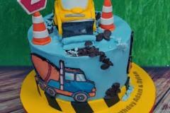 Adam & Dylan - Diggers Birthday Cake