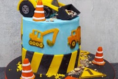 Aoife - Construction / Diggers Birthday Cake