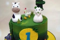 Nivaan - Farm Animals Birthday Cake