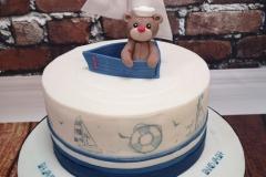 Noah - Sailor Teddy First Birthday Cake