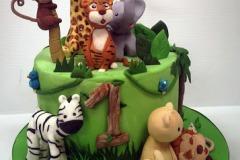 Wild One - Jungle Birthday Cake
