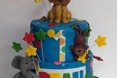 Beau - First Birthday Circus Cake