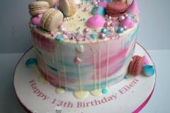Ellen - Macaron Drip Birthday Cake