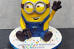 Austin - Minion Birthday Cake