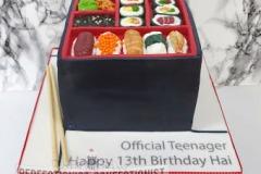 Hai - Sushi Bento Box Birthday Cake