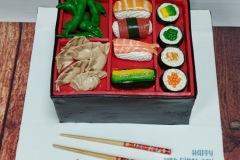 Zach - Sushi Bento Box Birthday Cake