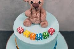 Nathan - Bears and Blocks First Birthday Cake