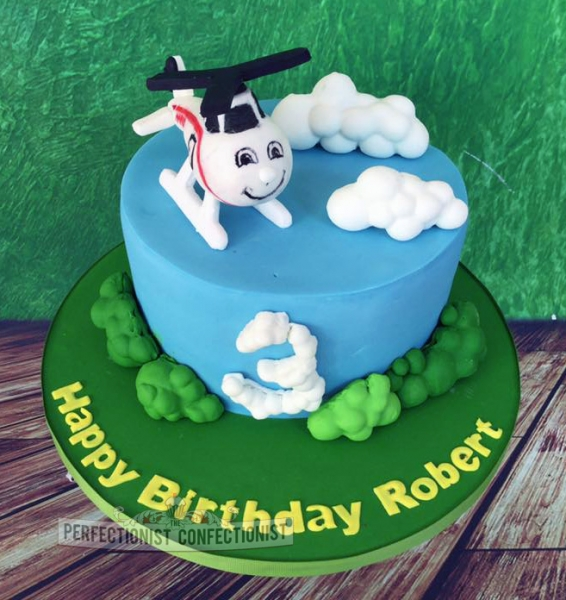 Helicopter Cake Topper