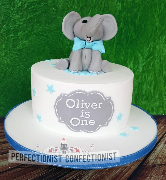 St Birthday Cake Elephant Topper